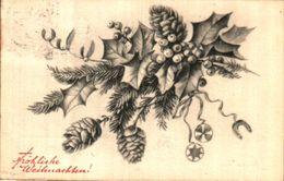 Noel 453 - Weihnachten, Pin Houx Gui - Natale