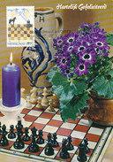 D32024 CARTE MAXIMUM CARD RR TRIPLE 1984 NETHERLANDS - CHESS SCHACH ECHECS SCHAKEN SPEC. POSTMARK CP ORIGINAL - Scacchi