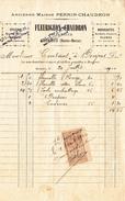 DONJEUX - Epicerie Anc. Mson PERRIN-CHAUDRON, Succ. FLEURIGEON-CHAUDRON- Facture De 1910 - 3 - Lebensmittel