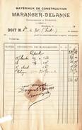 DONJEUX  -Matériaux De Construction MARANGER-DELANNE - Facture De 1911 - 3 - Frankreich