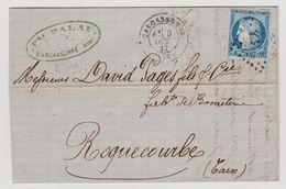 Cérès N° 60 A N° 78 B2 2éme état GC 1053 Sur Lettre 2 Scans - 1871-1875 Cérès