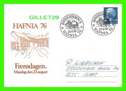 CARTE MAXIMUM - HAFNIA 76, DANEMARK - FAERODAGEN - - Cartes-maximum (CM)
