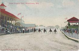 AK Watertown Inter County Fair Horse Race Racecourse Racetrack A Waukesha Madison Clyman Wisconsin WI United States USA - Waukesha