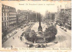 Bruxelles - CPA - De Brouckere's Plaats In Vogelvlucht - Lanen, Boulevards