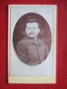 """88 - REMIREMONT -   PHOTO ANCIENNE,  ENVIRON 1880.. Portrait D'un Homme , Notable.""""  """" PHOTO: LUTHRINGER """" RARE """" - Old (before 1900)"""