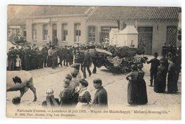 """Loenhout: Nationale Feesten 30 Juli 1905. Wagen Der Maatschappij """"Melkerij-Boerengilde"""" - Wuustwezel"""