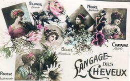Fantaisie - Langage Des Timbres Et Des Cheveux - Lot De 2 Cartes - Fantaisies