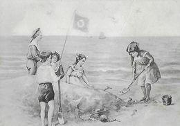 CPA ARTS.  Marines, Enfants Jouant Sur La Plage.  .A728 - Peintures & Tableaux