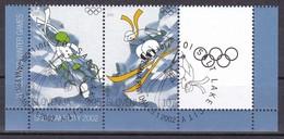 2002 Slowenien, Slovenia, Mi. 382/83, Used First Day Oo, Olympische Winterspiele, Salt Lake City. - Slovenië