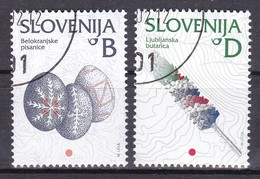 2002 Slowenien, Slovenia, Mi. 384/85, Used First Day Oo, Freimarken: Kulturelles Erbe - Slovénie