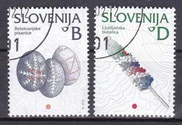 2002 Slowenien, Slovenia, Mi. 384/85, Used First Day Oo, Freimarken: Kulturelles Erbe - Slovenia