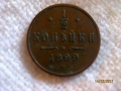 Russie: 1/2 Kopek 1899 - Russia