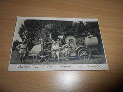 4468 - Carte-Photo, Soldats S'occupant Du Treuil Du Ballon Monté, 1917 - Guerre 1914-18