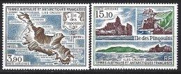 TAAF Yv  PA 100/101 ** L'île Des Pingouins - Poste Aérienne