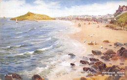 Angleterre - Cornwall - St Ives - Porthmeor Beach And Island - La Plage Et L'île - St.Ives