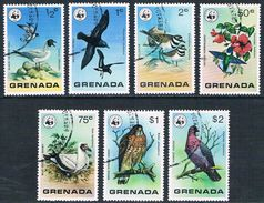 Grenade - WWF Oiseaux Sauvages 790/796 Oblit. - W.W.F.