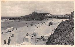 Angleterre - Cornwall - St Ives - Porthmeor Beach & Island - La Plage Et L'île - St.Ives
