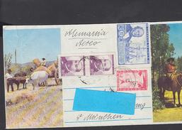 CILE  1966 -  Yvert 313-314 - Lettera Per La Germania - Chile