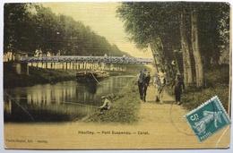 PONT SUSPENDU - CANAL - HEUILLEY - France