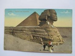 EGYPTE  -   LE CAIRE    -   LE SPHINX  ET   PYRAMIDE   ANIME            TTB - Cairo