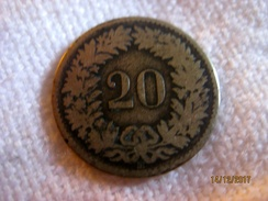 Suisse: 20 Centimes 1851 BB (rare) - Suisse