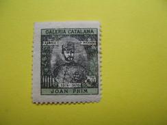 Vignette Galeria Catalana Africa-Mexic  Joan Prim 1814-1870 - Cinderellas