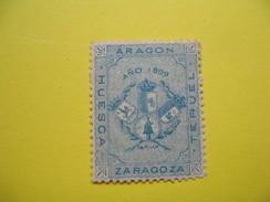 Vignette Aragon Zaragoza  Huesca Teruel  1899 - Erinnophilie