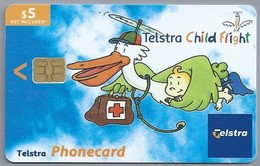 AU.- TELSTRA PHONECARD. $ 5. - Telstra Child Flight. Babies And Children's Intensive Care Emergency Helicopter- 2 Scans. - Australië