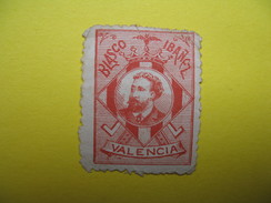 Vignette   Blasco Ibangz   Valencia  1899 - Erinnophilie