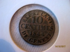 Suisse - Genève 10 Centimes 1844 - Switzerland
