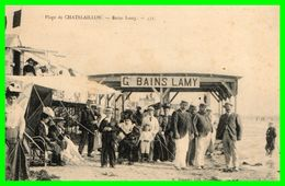 Plage De CHATELAILLON - Bains Lamy (recto Verso) - Châtelaillon-Plage