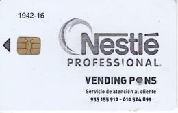 TARJETA CON CHIP DE NESTLE PROFESSIONAL VENDING PONS (PUCE) - Tarjetas Telefónicas