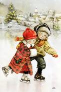 #47/10 Lisi Martin Children Merry Christmas  Happy New Year  Russian Modern Rare New Postcard - New Year