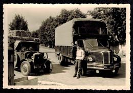 Photo 10 X 7 -  Camions Panhard Et Berliet GLR Carrossé --- Del296 - Cars