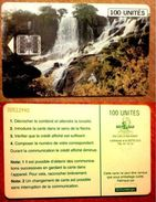 GUINEA  Chip Phonecard WATERFALL - Guinea