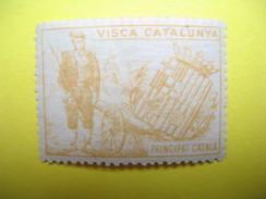 Vignette  Visca Catalunya Principat Catala - Erinnophilie