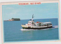 "Charente  Maritime  :  ILE  D ' AIX  FOURAS , Bac  Bateau "" Baron  Gourgaud ""  1998, Fort  Enet - Fouras-les-Bains"