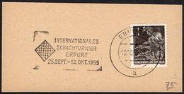 GERMANY ERFURT 1955 - INTERNATIONAL CHESS TOURNAMENT - FRAGMENT - Scacchi