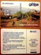 EQUATORIAL GUINEA  Chip Phonecard WATERFALL - Equatorial Guinea