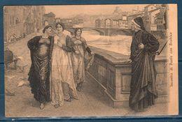 1913 Cartolina Illustrativa Incontro Di Dante Con Beatrice -- Viaggiata -- - Filosofia & Pensatori