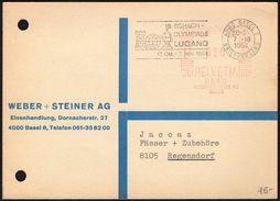 SWITZERLAND LUGANO 1968 - 18th CHESS OLYMPIAD - MAILED - Scacchi