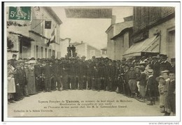 Sapeurs Pompiers De VANVES Au Moment De Leur Départ De MESCHERS , Manifestation Du 7 Juin 1908 , Photo D'une CPA ANIMEE - Meschers