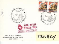 1983 RIMINI GIRO AEREO INT.LE D'ITALIA 1983 - Aerei