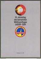 """DDR: Gedenkblatt Mit Mi-Nr. 3170-72 ESST: """"10. Jahrestag Des Bemannten Weltraumfluges UdSSR - DDR"""" !      X - [6] République Démocratique"""
