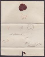 Wilsdruff  Wilsdruf Altbrief 1849 An Pfarramt Fördergersdorf  Bei Tharandt, Rs. Lacksiegel - Saxony