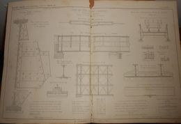Plan D'un Pont En Tôle Sur L'Inn à Sarstedt, Royaume Du Hanovre. 1855. - Public Works
