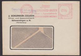 Schwenningen Neckar AFS  8.7.48 16 Pf. Geschäftspapiere Uhren- U. Apparatefabrik Isgus Schlenker-Grusen - Französische Zone