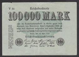 Reichsbanknote 100.000 Mark Vom 25.7. 1923 Serie V, Inflation - [ 3] 1918-1933: Weimarrepubliek