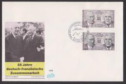 Konrad Adenauer Charles De Gaulle Vertrag Deutsch-französiches Zusammenarbeit - Lettres & Documents