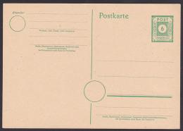 SBZ GA 6 Pfg. Ostsachsen P8 Ungebraucht Kleine Wertziffer Im Kreis Ganzsache - Zone Soviétique